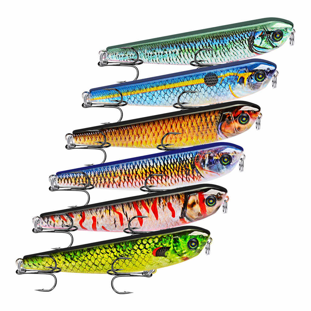 1PC Fishing Lures Plastic Multicolor Hard Bass Baits Ocean Boat Fishing Floating Large Jigs Colors Lures Accessories 2019