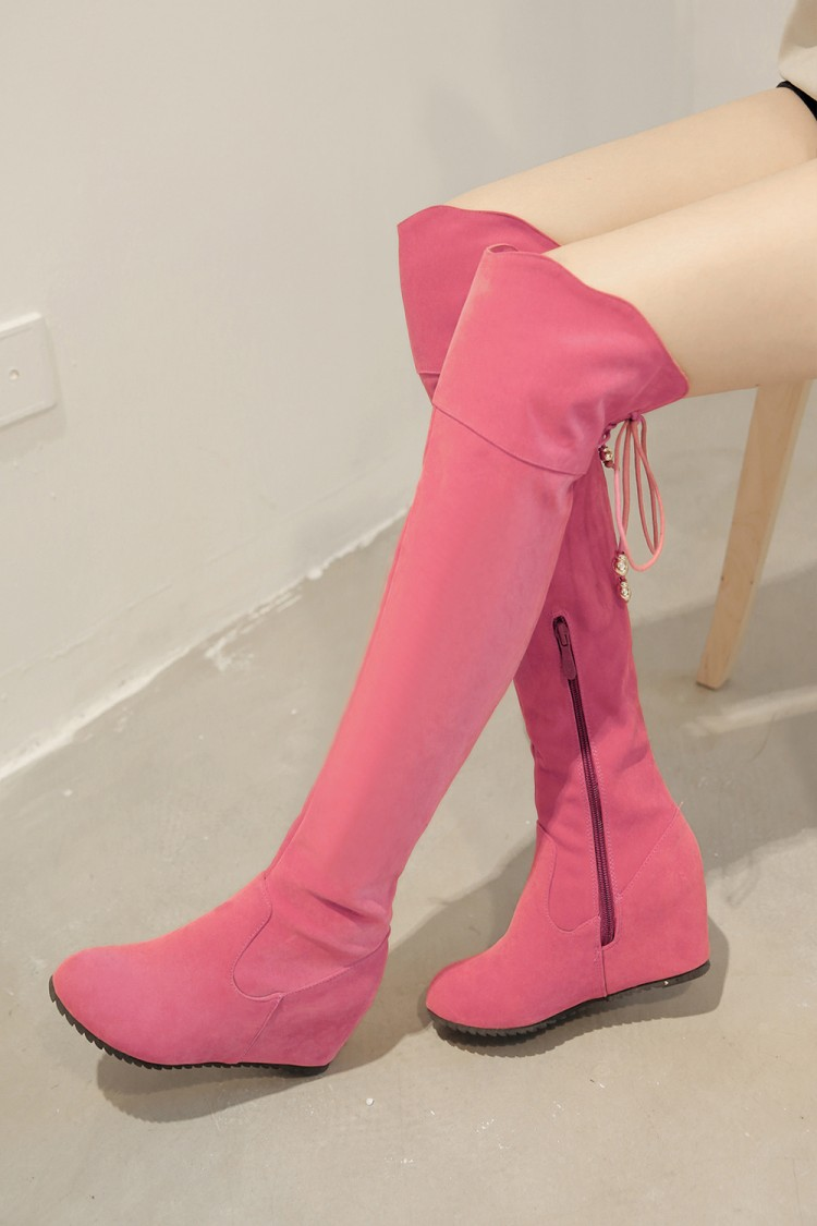 2017 Winter New High Heel Boots Leisure Elegant Heels Sexy Women Shoes Boots Round Toe T ...