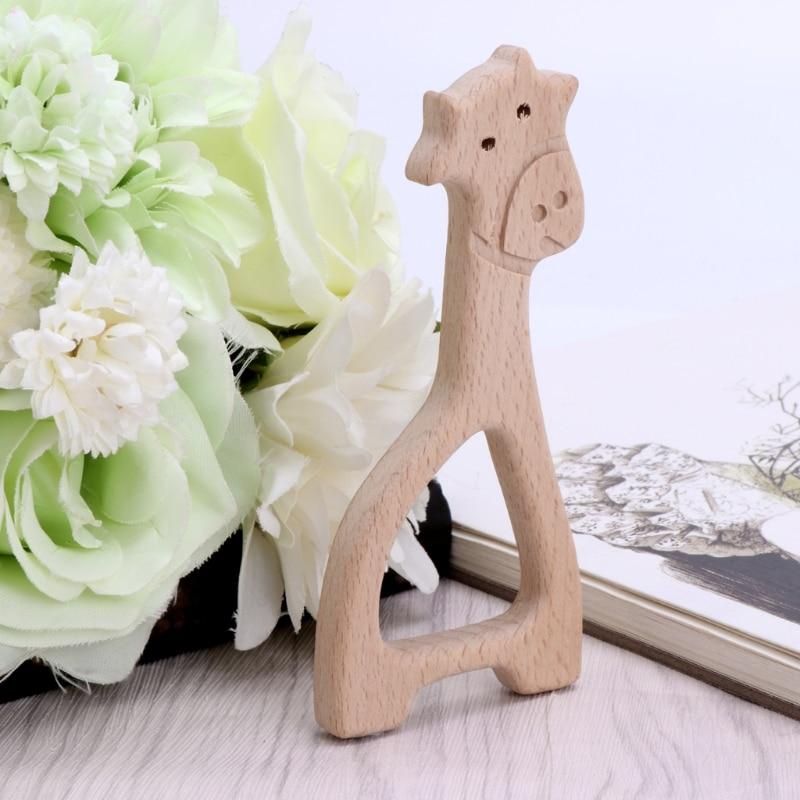 2017 Baby  Natural Wood Giraffe Pendant DIY Jewelry Findings Handcraft  Teether Shower    Gift SEP8_20