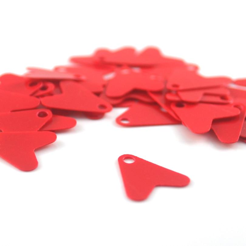 50X Plastic Red Heat Shape Sequins For DIY Metal Spoon Fishing Lures Hard Hoo'UK