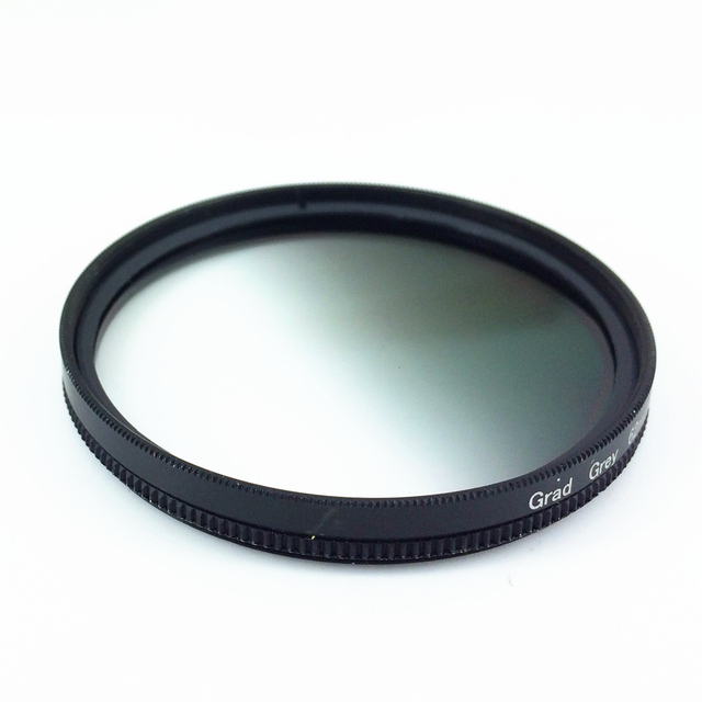 Circle Graduated Gradual Gradient Grey Gray Color Lens Filter 40.5 46 49 52 55 58 62 67 72 77 mm 77mm 72mm 67mm 58mm 52mm 49mm