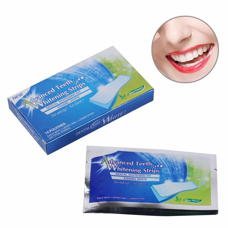 50box=700pairs Stain Removal Advanced Teeth Whitening Elastic Gel Oral Health clareamento dental Teeth Whitening Strips