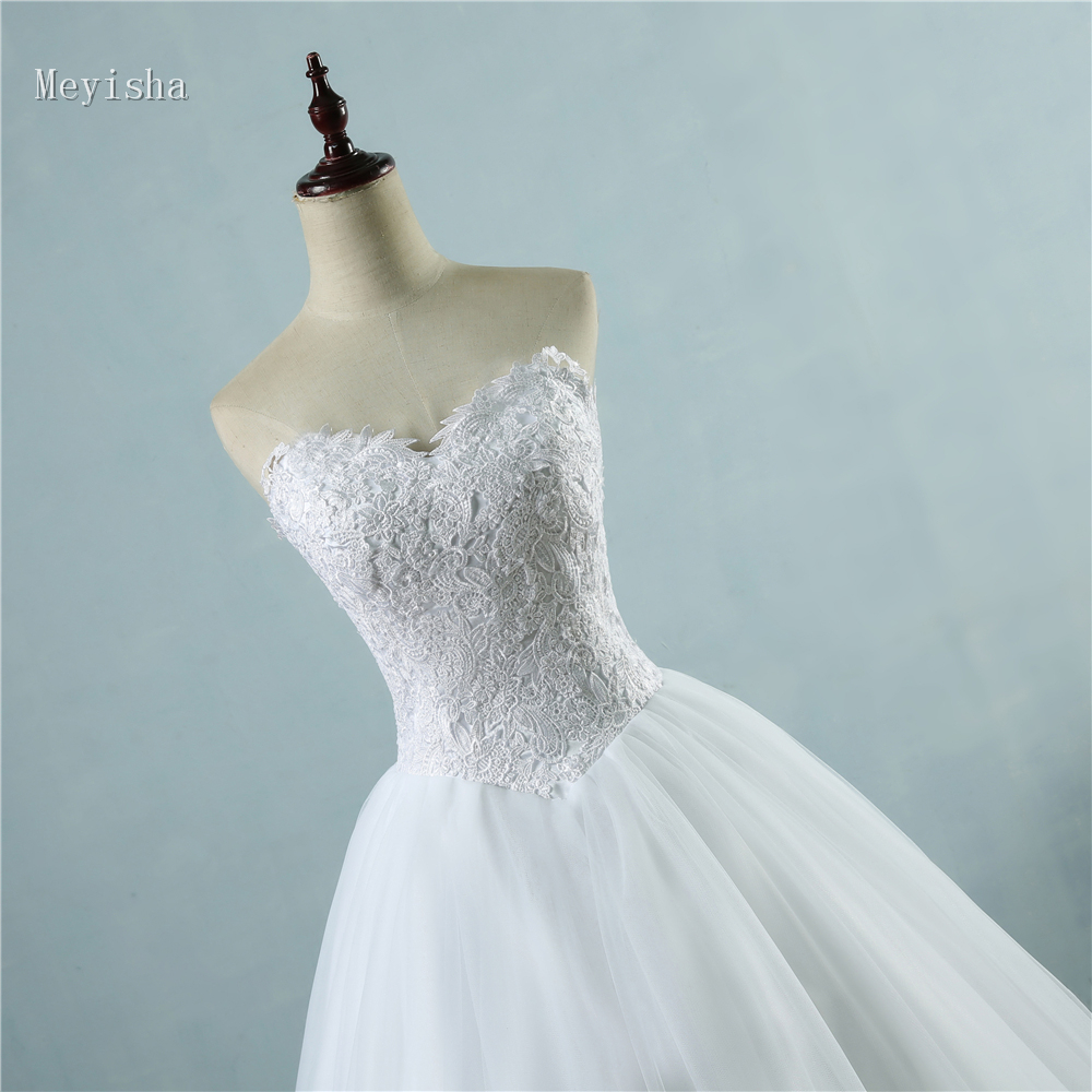 ZJ9081 Lovely Wedding Dress Sweetheart Ball Gown Bride Dresses With ...