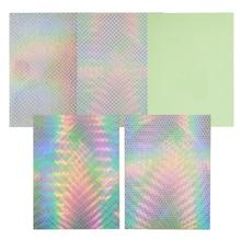 Mixed Color Holographic Adhesive Luminous Fishing Stickers 5 pcs Set