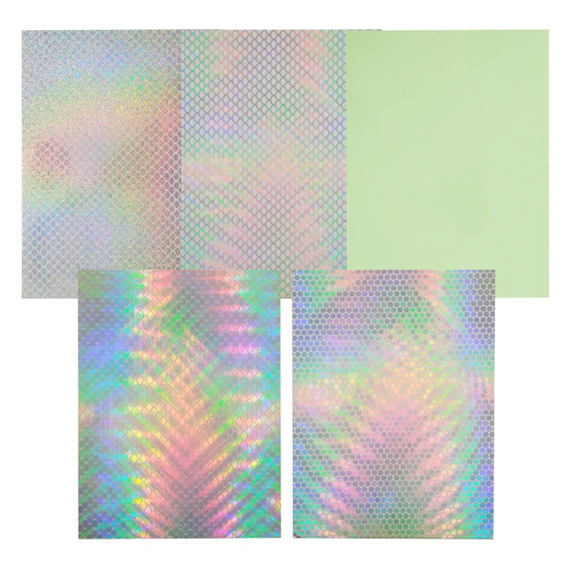 Mixed Color Holographic Adhesive Luminous Fishing Stickers 5 pcs Set