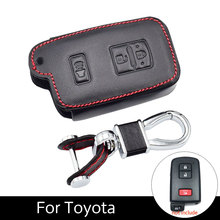 Fob Genuine Leather Car Key Covers For The American Car Toyota Tacoma Land Cruise 2016-2017 Smart Keys Leather Key Case велосипед smart cruise 300 2017