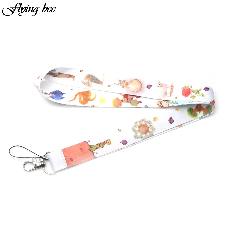 Flyingbee  Prince Boy Cute Keychain Phone Rope Kids Key Rings Lanyard For Keys ID Badge Holders Neck Straps Keyring X0070