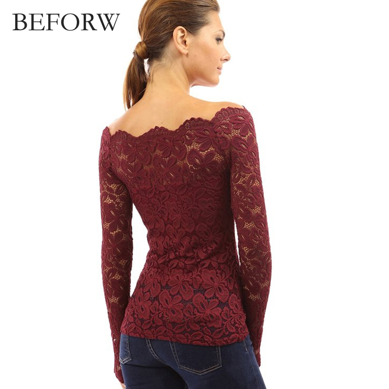 Long Sleeve Off the Shoulder Tops for Women