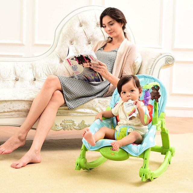 Горячие продажи высокого качества ребенка качалка многофункциональный портативный складной детская колыбель стул детская спальная кровать