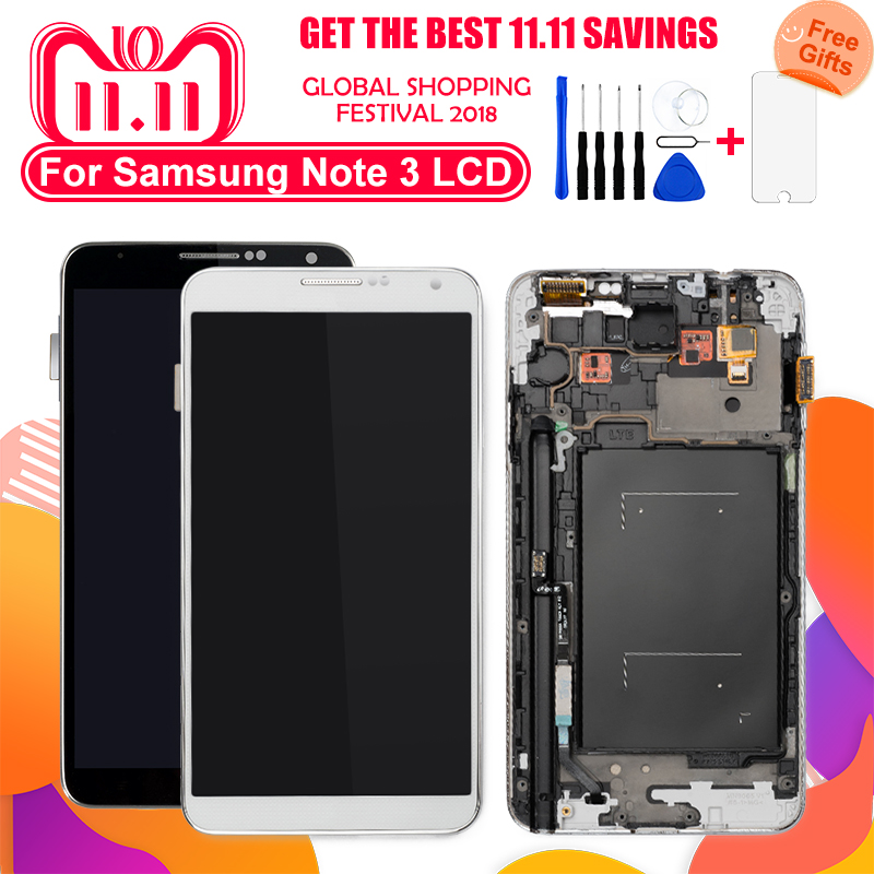 100% Tested <font><b>LCD</b></font> Display For Samsung Galaxy Note3 N9005 N900A N900T <font><b>N9000</b></font> <font><b>LCD</b></font> Display Touch Screen Digitizer Assembly Replacement image