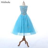 Weilinsha/Платья с цветочным узором и бусинами для девочек, ТРАПЕЦИЕВИДНОЕ длинное платье для выпускного вечера, вечерние платья, Vestidos de comunion