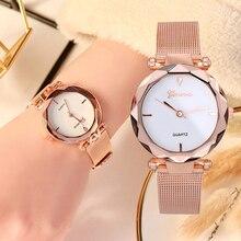все цены на 2019 New Fashion Ladies Quartz Wristwatch Top Brand Luxury Gold Watches Women Mesh Stainless Steel Strap Female clock Gift Dress онлайн