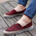 Os mais recentes de Alta Qualidade Sapatos de Lona Para Homens Moda Respirável Sapatos Casuais Condução Sapatos Flats Lace-up Sapato Novo da Alpargatas