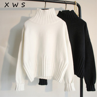 2018 warm turteneck Autumn winter Sweater Pullovers Women Long Sleeve thick female Sweater female Jumpers white sweater top