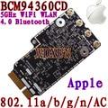 BCM94360CD Broadcom 802.11ac WiFi WLAN Bluetooth 4.0 Tarjeta para Apple con Mini PCI-E Adaptador Convertidor de Interfaz OS X