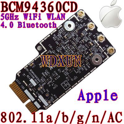 Broadcom BCM94360CD 802.11ac Wi-fi À INTERNET SEM FIOS Bluetooth 4.0 Cartão para Apple com Mini PCI-E Adapter Converter a Interface do MAC OS X