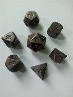 YENI Metal Zar seti d4 d6 d8 d10 d Kurulu Oyun için % d12 d20 Rpg dungeons & ejderha zar