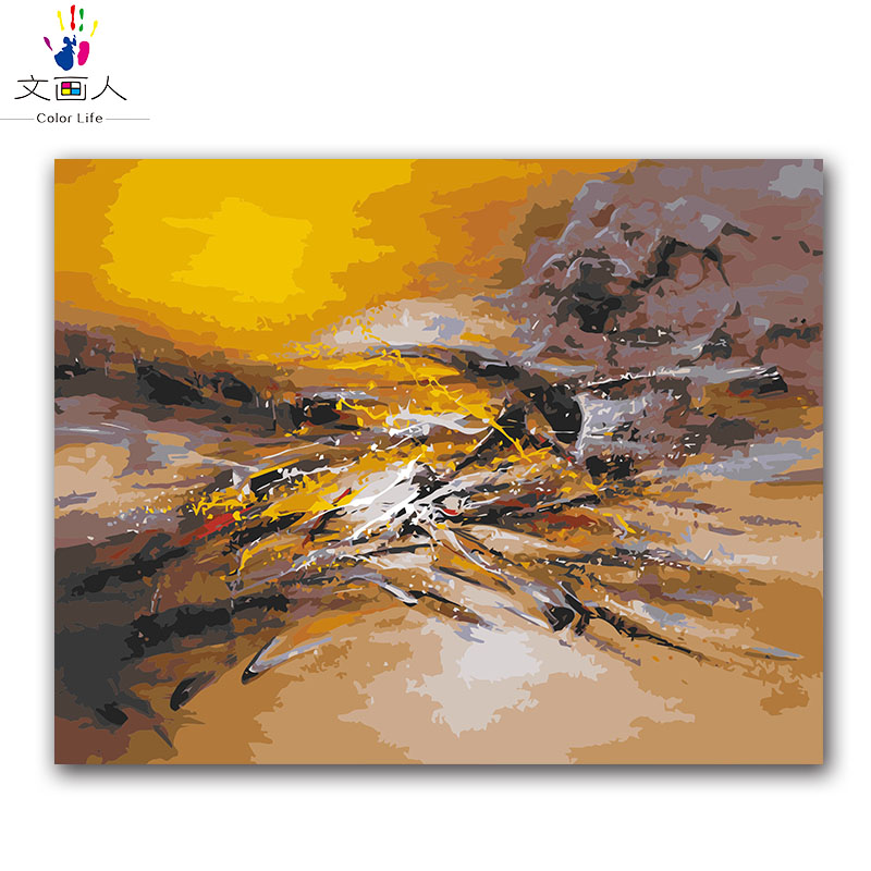 Coloring by numbers Abstract Sky Picture Modular Hoom Decoration oil painting by numbers landscape digital paint by numbers