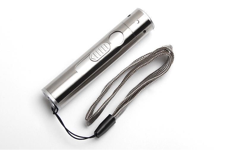 Multi-Function Triad USB įkrovimo šviesos žibintuvėlis su cigarečių žiebtuvėliu Infraraudonųjų spindulių lemputė
