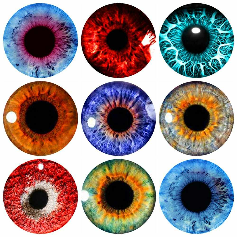 20pcs 8~30mm Eye Glass Cabochon for DIY Jewelry Making Findings & Components Z-G1756