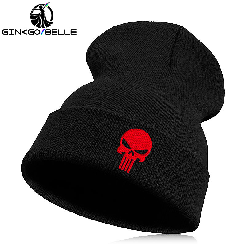 f5b789cb39c Beanie Hat Skullie Cap Slouchy Winter Embroidery Cool Punk Men Women Boy  Girl Teens Street Dance