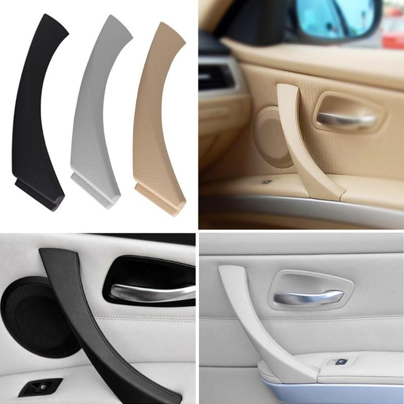 Gray For BMW E90 3-Series Sedan Right Inner Door Panel Handle Pull Trim Cover