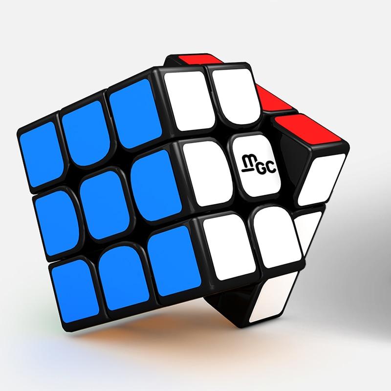 New YJ MGC 3x3x3 Magnetic Magic Cube Black Yongjun MGC Speed Cube for Brain Training Toys