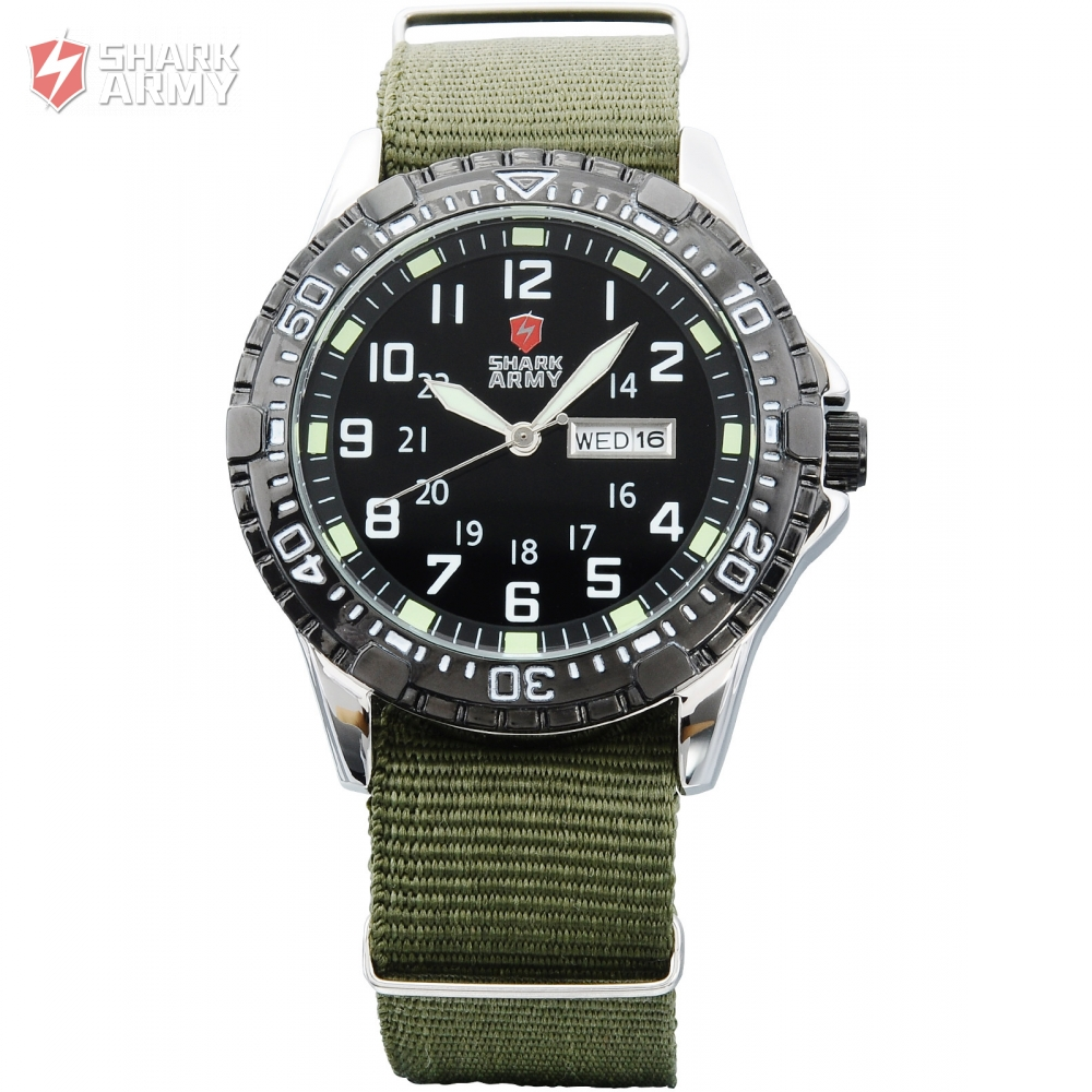 купить SHARK ARMY Stainless Steel Rotate Bezel Smart Watch Analog Quartz Male Clock Men Military Wrist Sport Mens Watches/SAW020