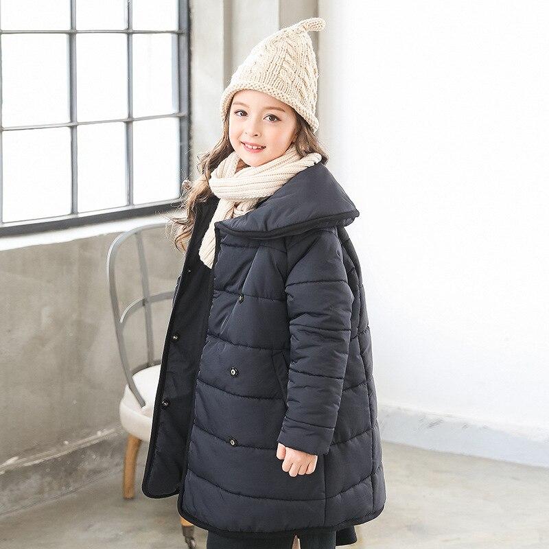 Christmas parkas winter long coat for baby girls cotton padded kids girls winter jackets winter 2018 red black children parkas цена