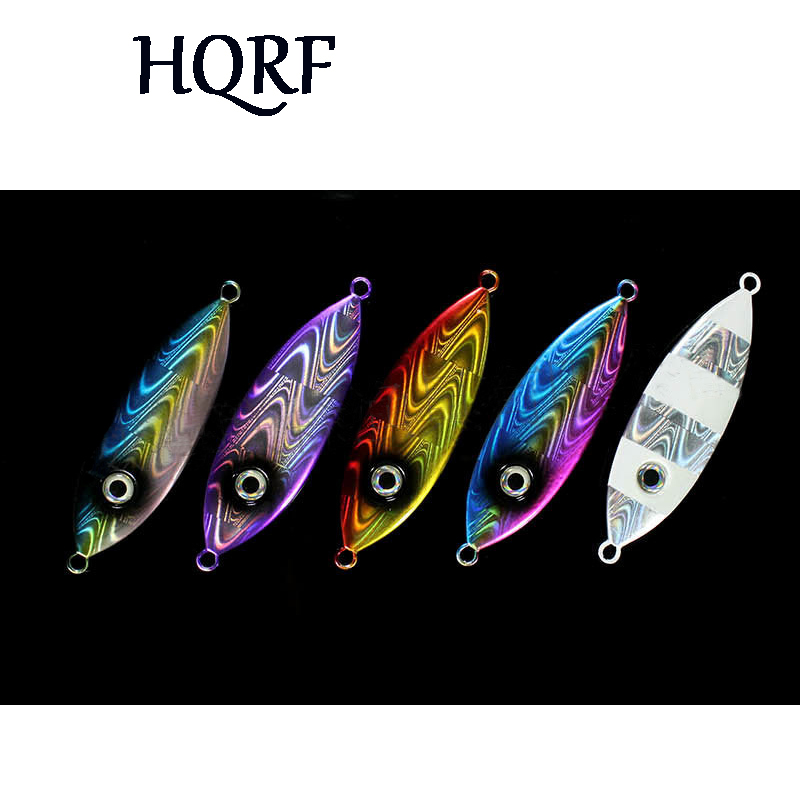 Free shipping 100g 1pc/lot Slow Jig Spoon Lure Saltwater Metal Jigging Fishing Lure casting luminous lead jigging lure