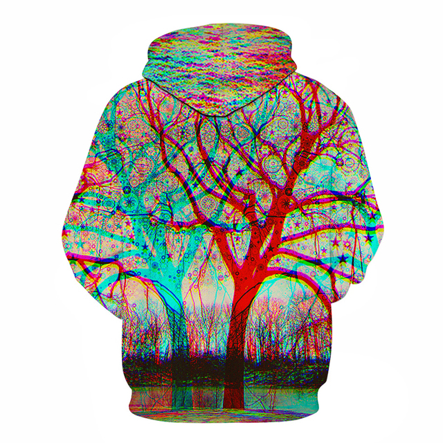 Wolf Printed Hoodies Men 5