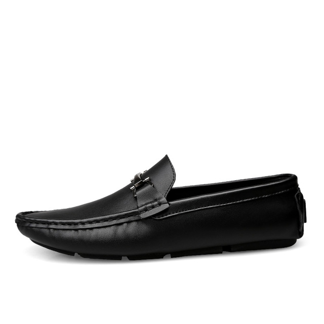Italian Mens Shoes Casual Brands Slip On Formal Luxury Shoes Men Loafers Moccasins Genuine Leather Brown Driving Shoes