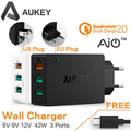 AUKEY Original Quick Charge 2.0 3 Port USB Wall Charger + Micro USB Cable For Xiaomi Samsung Smart Fast Mobile Charger
