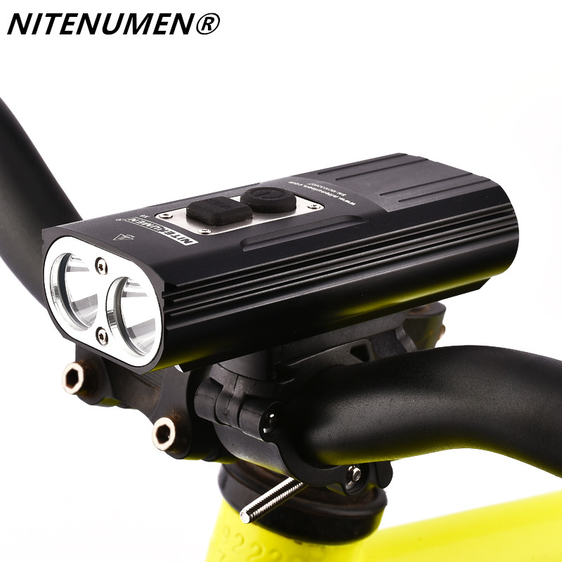 NITENUMEN 1800Lumens Bike Front Light Cycling Headlight Bicycle Rechargeable Flashlight Waterproof 6400mAh LED Head Lamp for