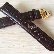 20 мм(пряжка 18 мм) T063639 T063617 Высококачественная позолоченная пряжка+ T063610 коричневый ремешок из натуральной кожи для мужчин