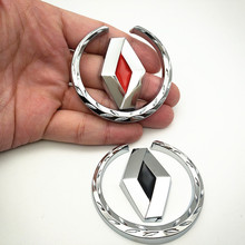 car styling case for renault duster megane 2 logan Scenic TwinGo  clio metal Badge sticker metallic emblem car accessor front left front right side version 2 pins 7702127213 7701039565 door lock actuator for renault 19 clio i ii megane scenic
