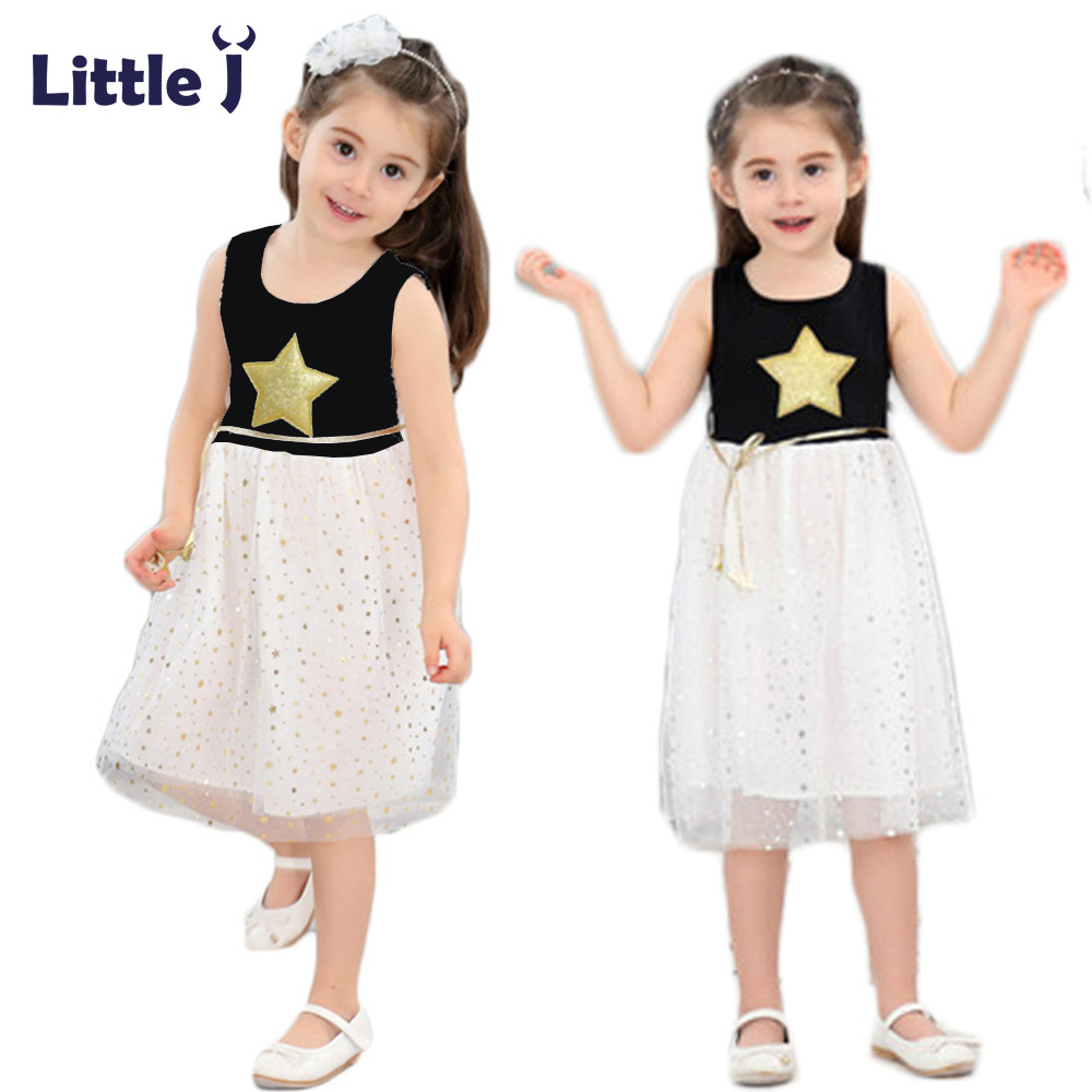 Clearance Summer Star Sequins Tulle Girls Dress Party Princess Lace Dress Sleeveless Girl Dresses Tutu Bohemian Children Clothes star island summer