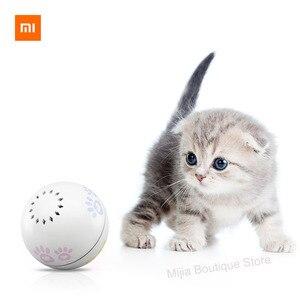 Image 1 - Xiaomi Petoneer Pet akıllı arkadaşı top kedi oyuncak dahili catnip kutu düzensiz kaydırma komik kedi artefakt akıllı pet oyuncak