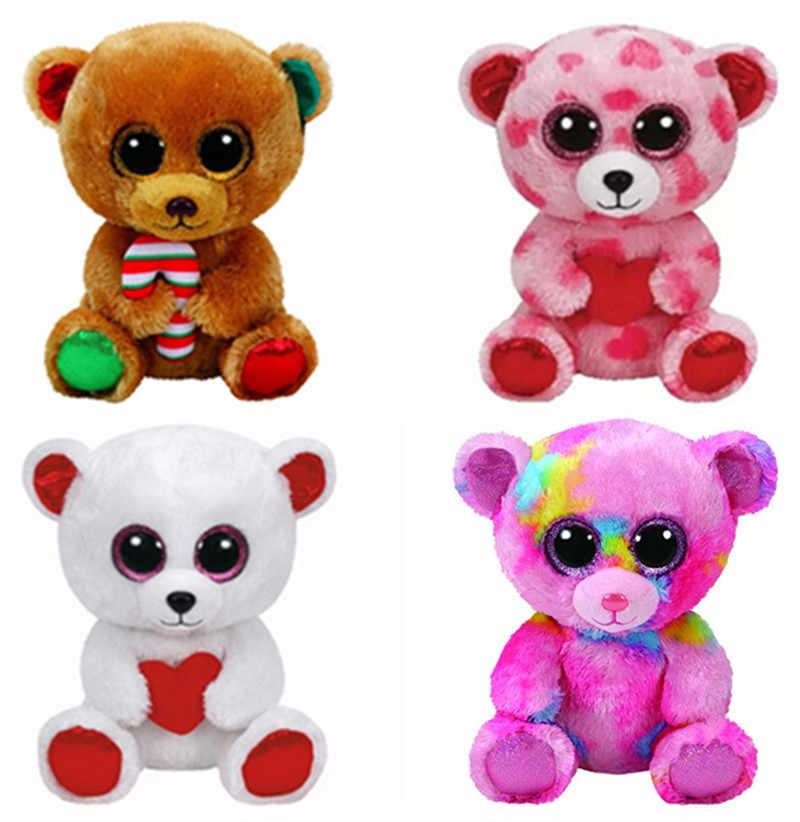 4495e4b69f4 Detail Feedback Questions about Ty Beanie Boos Sweetikins Cuddly Pink  Franky Paris Christmas Bella Bear 6   15cm Cute Plush Stuffed Animals Big  Eyes Kids ...