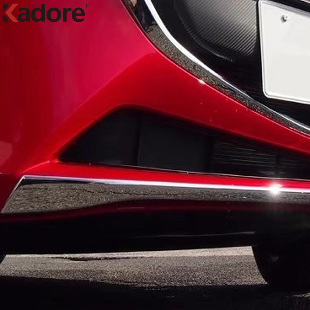 цена на For Mazda 2 DEMIO DJ Hatchback 2014-2018 ABS Chrome Front Center Grille Grill Bottom Cover Trim Car Racing Grills Protector Bars