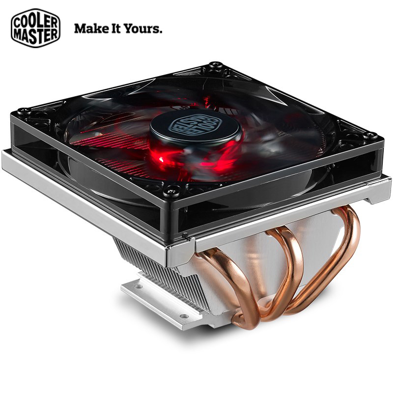Cooler Master T320 3 heat pipes CPU cooler Mini Case LED 4pin PWM Quiet For Intel and AMD PC computer CPU cooling Radiater fan цена и фото