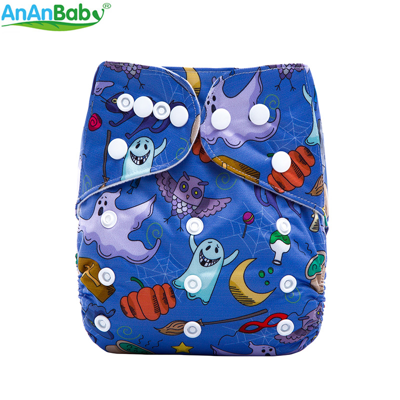 AnAnBaby Holiday Cloth Diaper Reusable Baby Nappies Waterproof Cover Snap Pocket Diapers Washable For Infants
