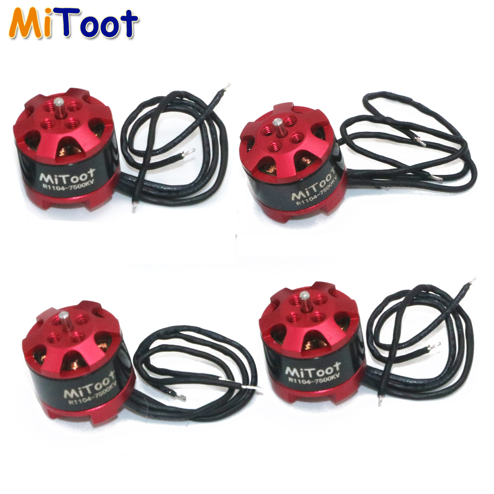 4pcs/lot Mitoot R1104 7500KV Brushless Motor for 2030 3020 Propeller RC Racing Racer Drone Quadcopter 4set lot universal rc quadcopter part kit 1045 propeller 1pair hp 30a brushless esc a2212 1000kv outrunner brushless motor