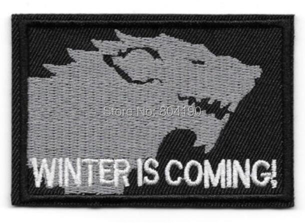 /'WINTER IS COMING/' Embroidered Patch Badge