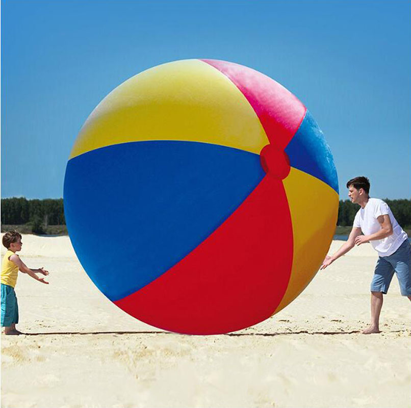100cm Giant Inflatable Beach Ball Volleyball Adult Children Outdoor Colorful  Ball Family Water Part Lawn Beach Party Toy DSH001