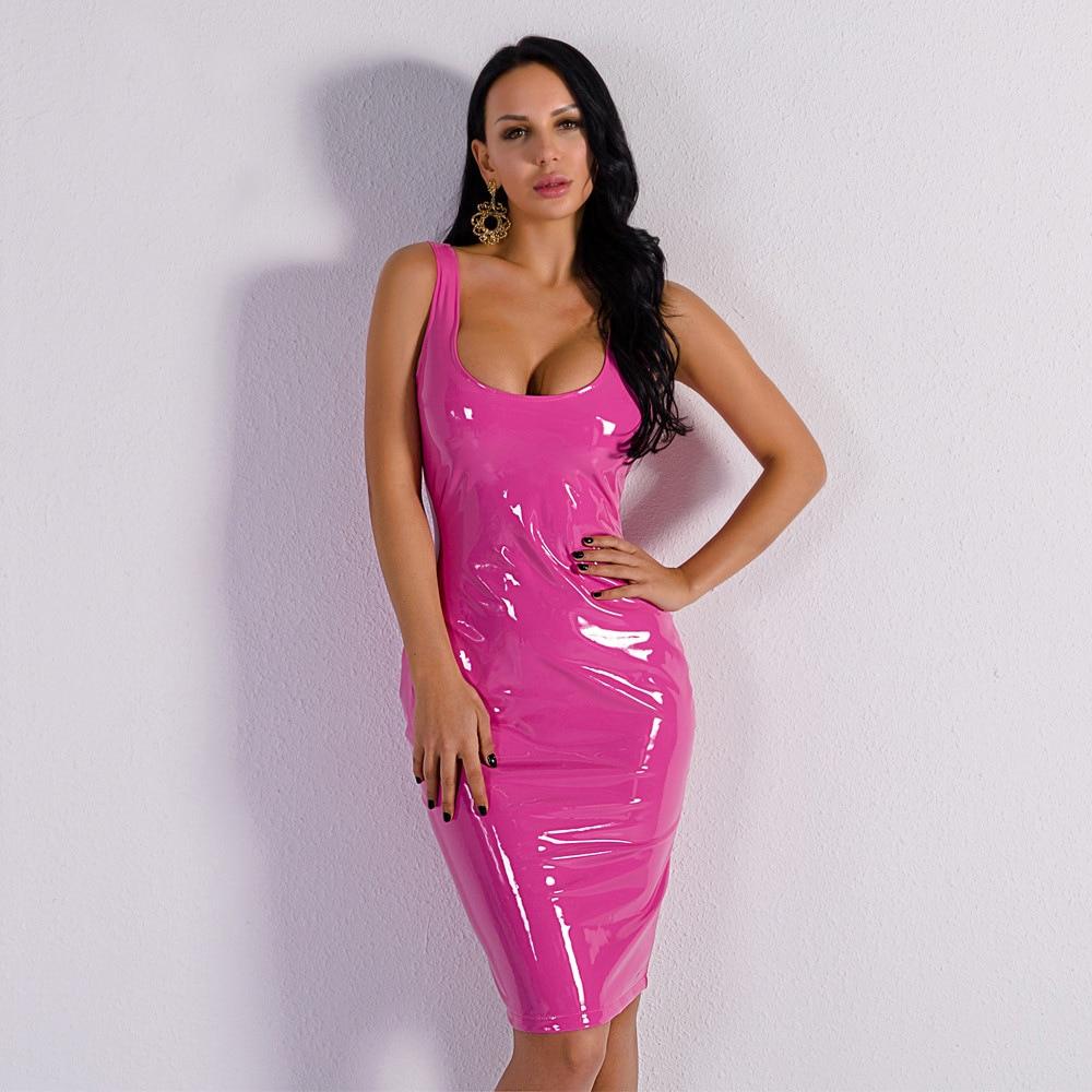 Femmes Sangle Robes De Nuit Whoulesale Parti Sexy Faible Rose Élégante Poitrine Soirée Mode Celebrity Moulante Club TOwqpET