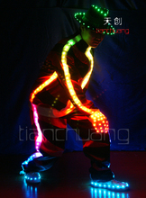 LED glänzende schuhe glanz hut kleidung Die glow handschuhe LED kostüme Abend bar