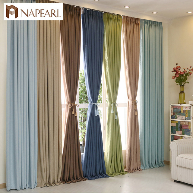 NAPEARL Modern curtain solid color blackout curtains custom window ...