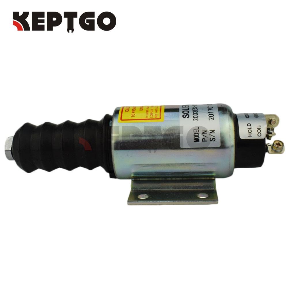 Diesel Shutoff Stop Solenoid Valve 2003ES-12E7U1B2S1, 12v solenoid 02 332169 for hydraulic solenoid directional valve 12v