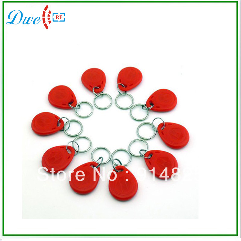 DWE CC RF 100pcs/Lot+ TK4100 125Khz  EM-ID proximity RFID access control smart card  rfid tag proximity keyfob dwe cc rf 2017 hot sell 13 56mhz 12v wg 26 rfid outdoor tag reader for security access control system